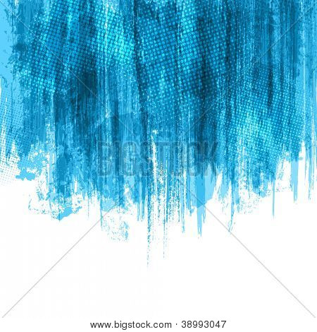 Blue Paint Splashes Background. Vector eps10