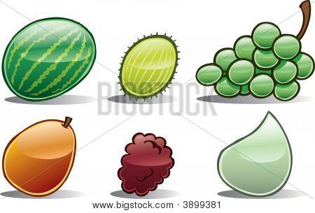 Group Of Basic Fruit Icons