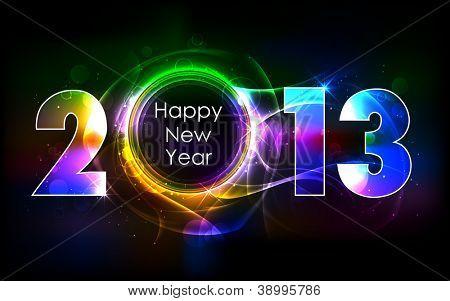 Ilustración de 2013 brillante fondo feliz año nuevo