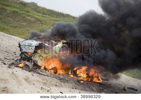 Flaming Wreck