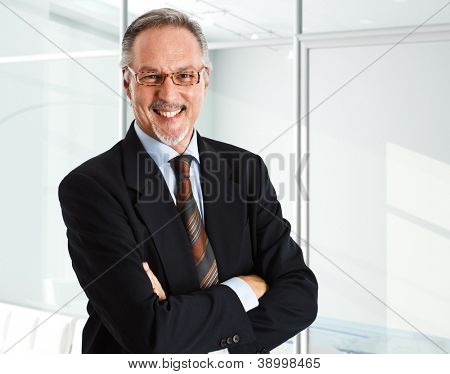 Portrait of an handsome smiling businessman