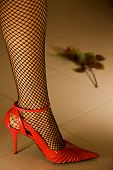 stock photo of high heels  - A woman - JPG
