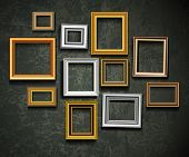 pic of carving  - Picture frame vector - JPG