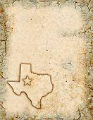 picture of texas map  - Grunge background of a Texas map with room for text - JPG