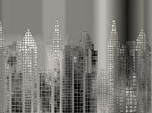 Brushed Aluminium Cityscape