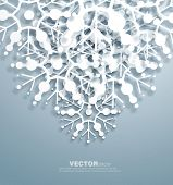 pic of ice crystal  - Vector   decorative  design of overlapping  snowflakes  - JPG