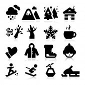 foto of house woods  - Winter icons - JPG