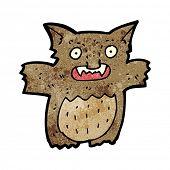 cartoon furry little creature poster