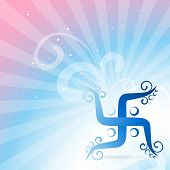 stock photo of swastik  - beautiful swastik vector background design - JPG