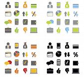 picture of sack dollar  - Business  icons set - JPG