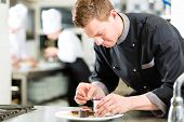 stock photo of pastry chef  - Cook - JPG