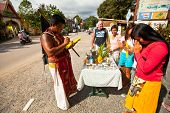 KO CHANG, THAILAND - NOV 10: Unidentified participant at Chang Buddha festival, Nov 10, 2012 on Chan