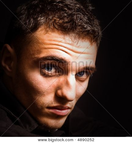 Artistic Portrait Of Man With Beautiful Sensual Eyes