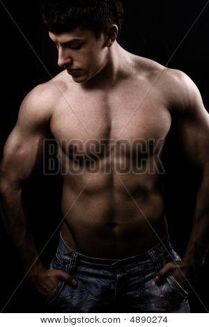 Fine Art Image Of Muscular Sexy Shirtless Man