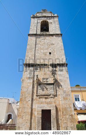 Clocktower. Manfredonia. Puglia. Italy.