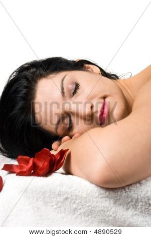 Woman At Spa Resort