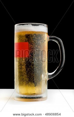 Refreshing mug of beer