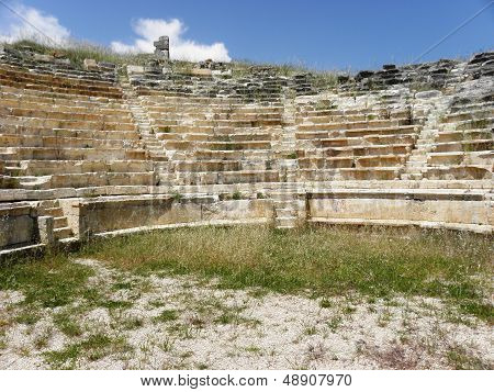 The amphitheater in ancient city Rhodiapolis.