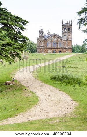 neogothic Temple, Stowe, Buckinghamshire, England