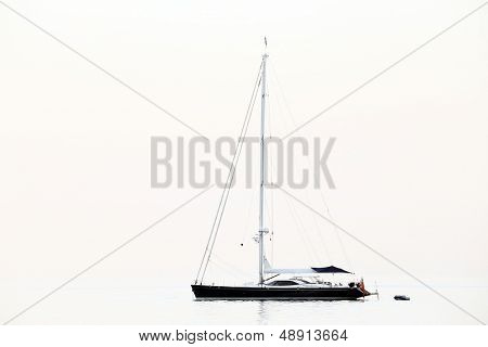 Sailing ship on the Mediteranean Sea, Europe