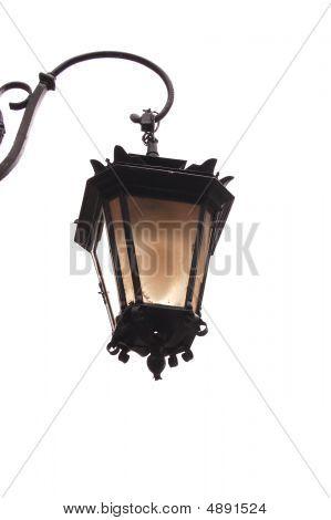 Old Lantern On A White Background