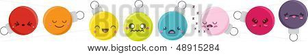Cartoon Kawaii Bauble Set
