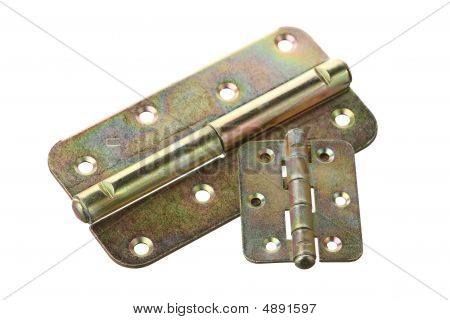 Two Hinges On A White Background