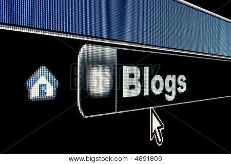 Internet Blogs Concept