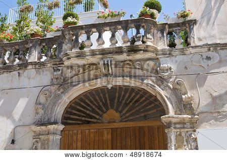 Delli Santi Palace. Manfredonia. Puglia. Italy.