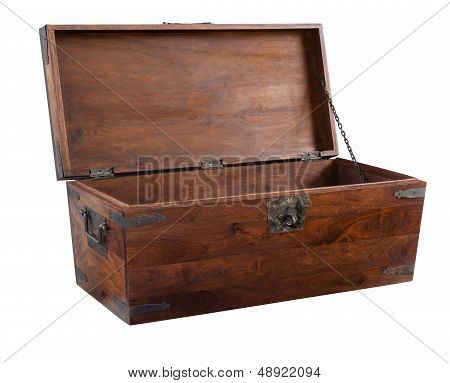 Wooden Chest Open