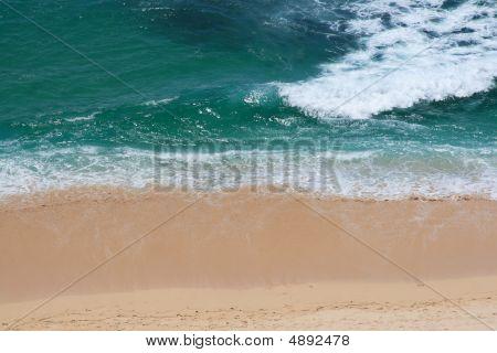 Waves Breaking At Coast