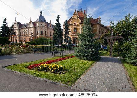Brasov townhall, neobaroque architecture style