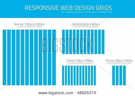 Responsive wed design grids to help coders and designers