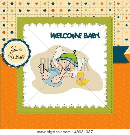 Baby Boy Shower Card
