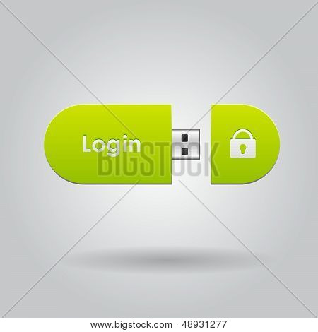 Login button for user interface