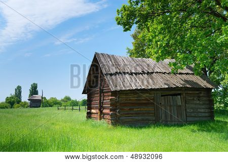 Village Wooden Storehouse
