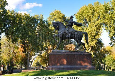 Amir Timur Monument In Tashkent
