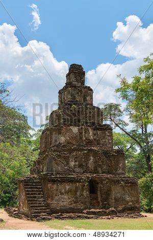 Ancient Pyramidal Buddhist Temple