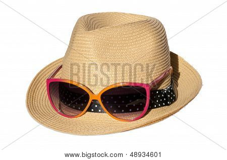Hat With Pink Suglasses