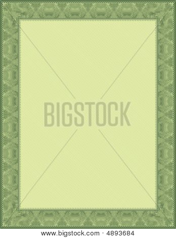 Green Certificate Background, Vector