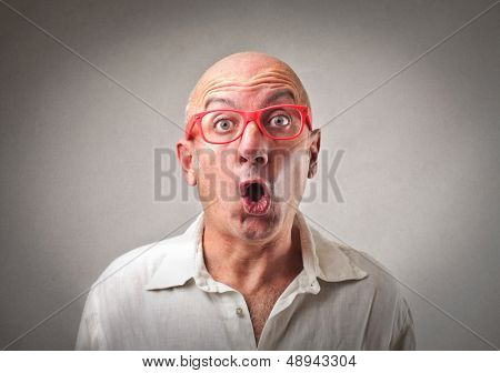 portrait of amazed businessman