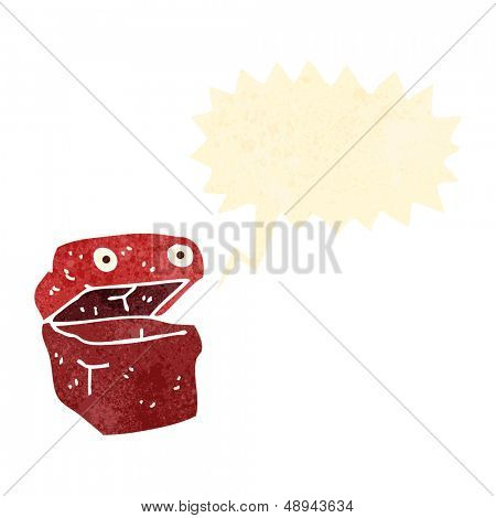 retro cartoon lunchbox character