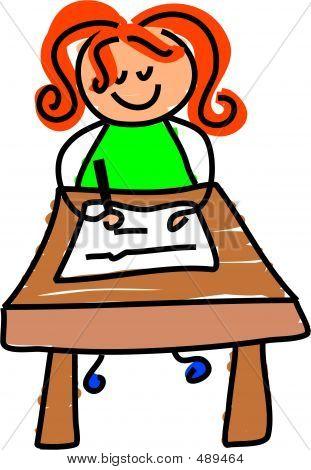 Schreiben-Kid