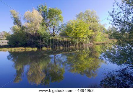 Rio americano lagoa com reflexo 2