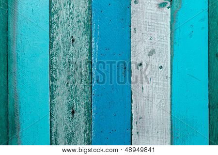 Cool Tone Blue And Green Wood