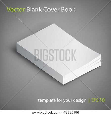 Vector Blank Book Cover