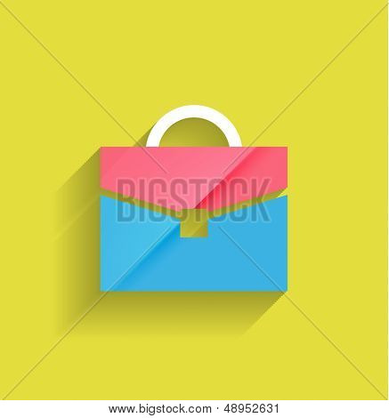 School bag vector modern flat design