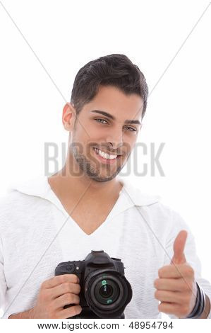 Photographer Giving A Thumbs Up