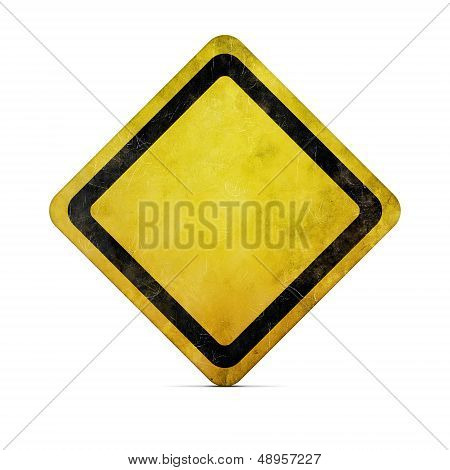 Grunge Blank Road Sign