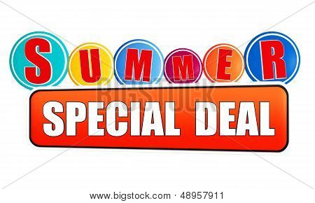 Summer Special Deal Orange Banner With Color Circles